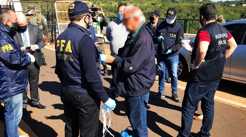 INTERPOL agents capture Gonzalo Sanchez in Brazil. Photo Credit: INTERPOL