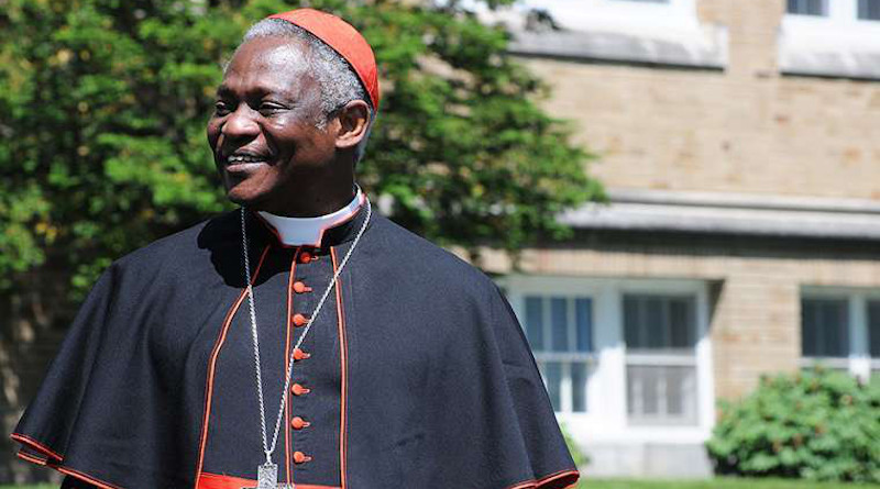 Cardinal Peter Turkson, prefect of the Dicastery for Promoting Integral Human Development. Credit: Lee Ferris/Mount Saint Mary's College.