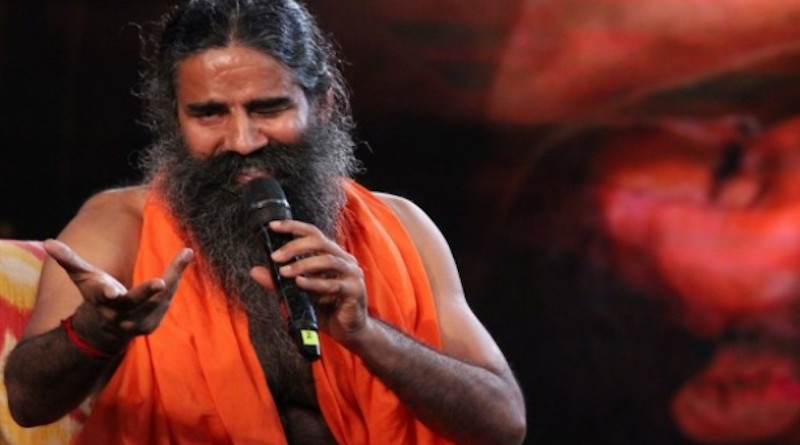Yoga guru Baba Ramdev speaks on a television program in New Delhi on Sept. 16, 2018. (Photo: IANS/UCA News)