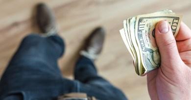Dollar Money Wallet Finance Cash Business Person Hand