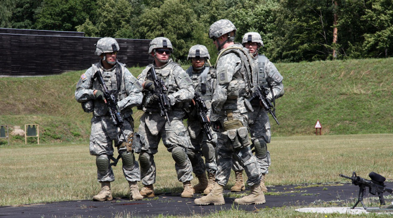 Soldiers assigned to the U.S. Army, Europe, Air Force 786 Security Force Squadron, from Sembach Airbase Germany, conduct USAF Pre-Ranger Course M16 and M4 zero qualification at Camp Robertson and Training Support Center Schweinfurt. Photo Credit: US Navy