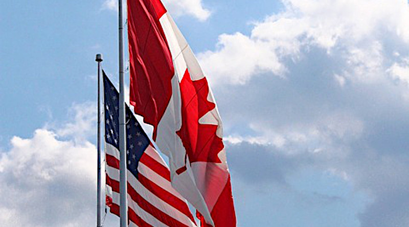 Canadian Flag Usa Border Day Canada Red