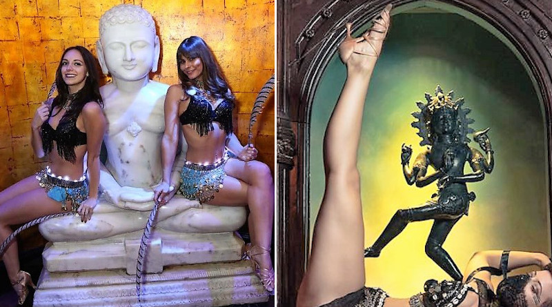 Statues of Lord Mahavira (left) and Lord Shiva in Nataraja form in Mandalay Bay. Photo Credit: Both pictures from Foundation Room Facebook page