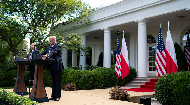 President Donald J. Trump participates in a joint press conference with Polish President Andrzej Duda Wednesday, June 24, 2020, in the Rose Garden of the White House. (Official White House Photo by Tia Dufour)