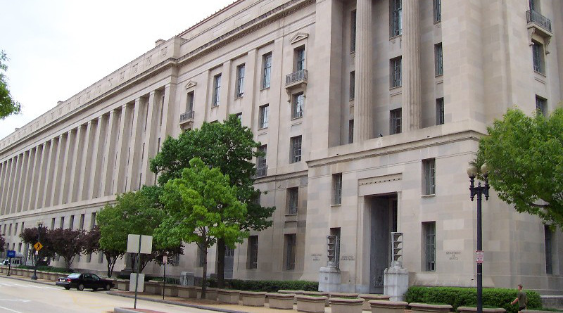Robert F. Kennedy Department of Justice Building. Photo Credit: Ed Brown, Wikimedia Commons