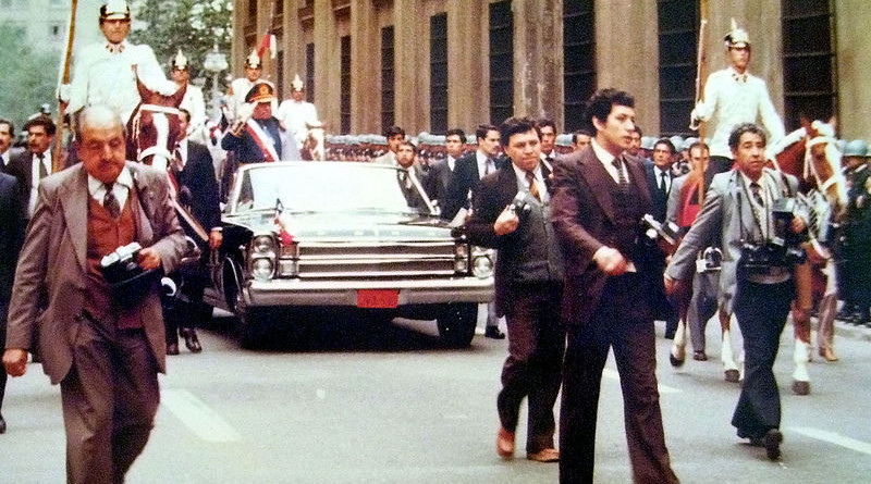 Chile's Augusto Pinochet in 1982. Photo Credit: Ben2, Wikipedia Commons