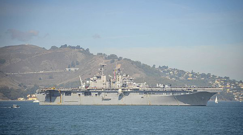 File photo of the Wasp-class amphibious assault ship USS Bonhomme Richard. Photo Credit: U.S. Navy photo by Mass Communication Specialist 2nd Class Jesse Monford