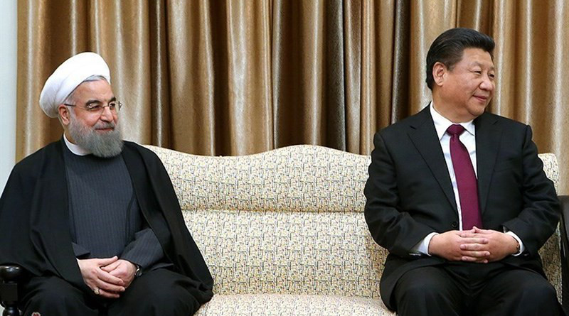Iranian President Hassan Rouhani and China's President Xi Jinping. Photo Credit: Tasnim News Agency