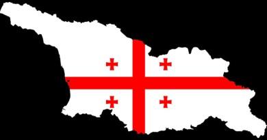 Georgia Country Map Flag