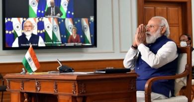 India's Prime Minister, Shri Narendra Modi attends the India-EU Virtual Summit 2020, in New Delhi on July 15, 2020. Photo Credit: India PM Office