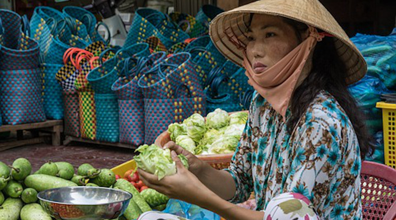 Vietnam Market Asia Vietnamese Woman