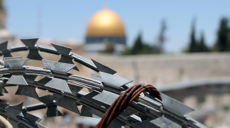 Barbed Wire Jerusalem Israel Palestine Western Wall
