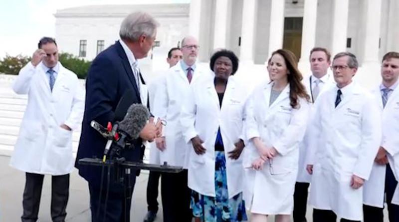 Screenshot from America's Frontline Doctors video