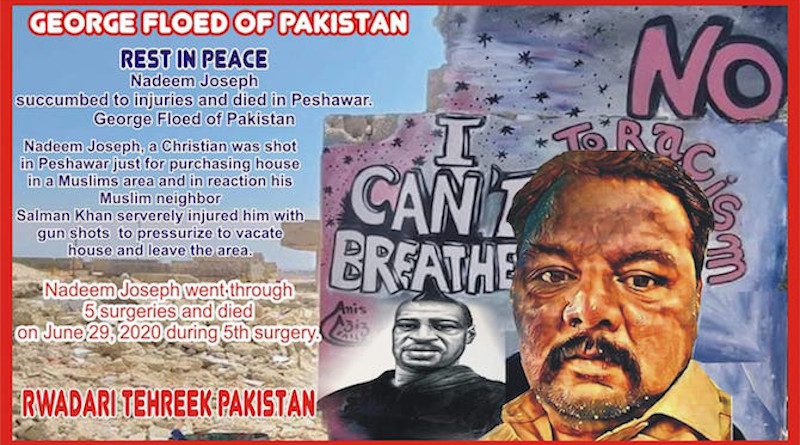 A protest banner supporting Nadeem Joseph produced by Rawadari Tehreek for Facebook. (Image courtesy of Samson Salamat)