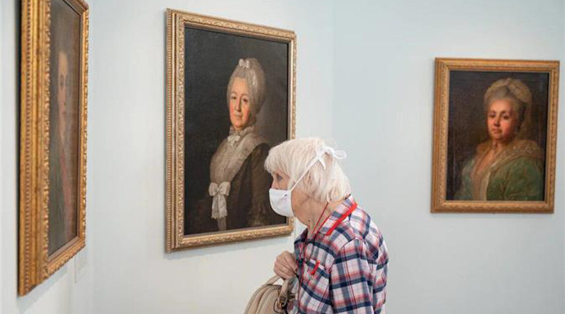 The State Historical Museum opens exhibition of portraits by Fyodor Rokotov in Moscow, Russia. Photo Credit: LUKOIL