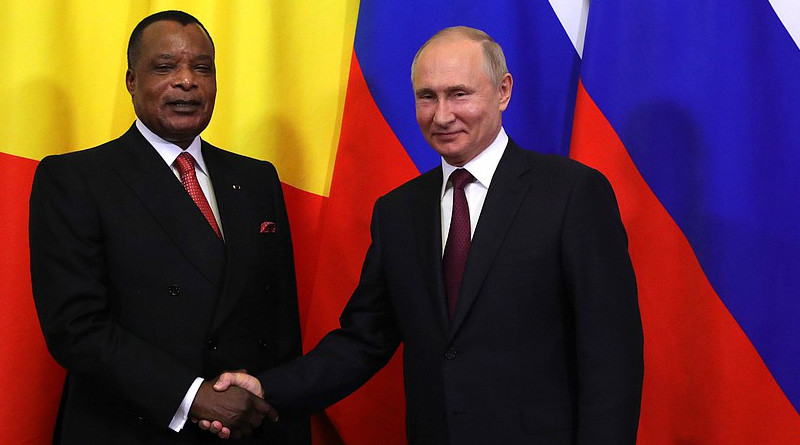 File photo of President of Republic of the Congo Denis Sassou-Nguesso with Russia's President Vladimir Putin. Photo Credit: Kremlin.ru