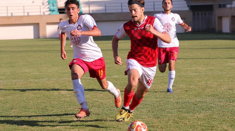 Armenian soccer club FC Lokomotiv Yerevan in action against Pyunik 2 in June 2019. Lokomotiv was one of several Armenian clubs implicated in a match-fixing scandal. (photo: Facebook, FC Lokomotiv Yerevan)