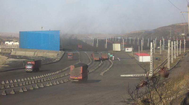A coal transfer hub near Ordos, China. CREDIT: Stony Brook University