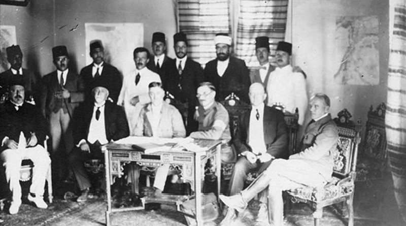 1919 Photo of the King Crane Commission. Photo Credit: King Crane Commission