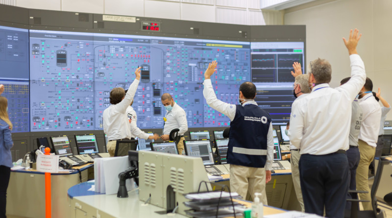 The UAE successfully starts up operations at the Barakah nuclear plant. Photo Credit: Emirates Nuclear Energy Corporation (ENEC)