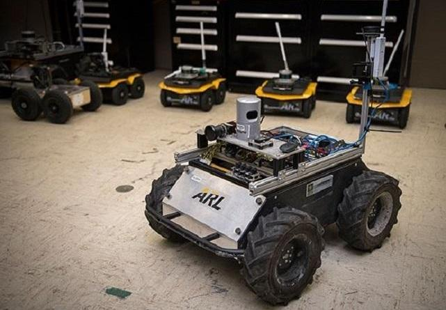A small unmanned Clearpath Husky robot, which was used by ARL researchers to develop a new technique to quickly teach robots novel traversal behaviors with minimal human oversight. CREDIT: U.S. Army