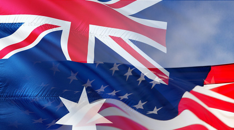 Australia United States Flags