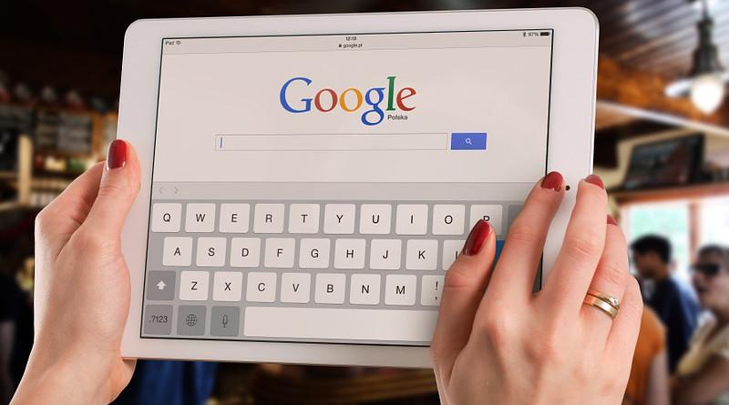 Google Bar Ipad Mockup Business Computer Tablet
