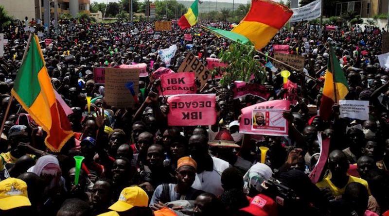 Protests in Mali. Courtesy CGTN