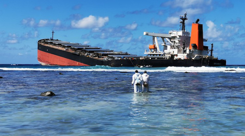 International Maritime Organization (IMO) continues to support international efforts to respond to the oil spill in Mauritius, following the break-up of the Japanese MV Wakashio. Credit: IMO