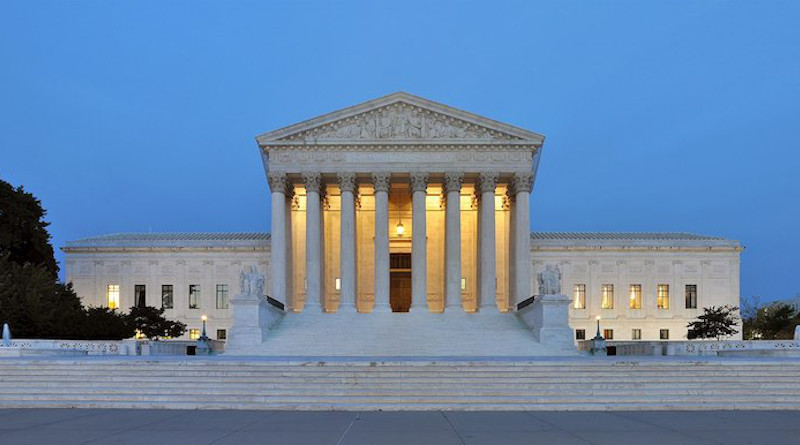 Panorama of the west facade of United States Supreme Court Building at dusk in Washington, D.c. CC BY-SA 3.0