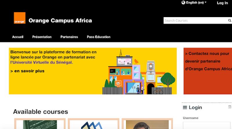 Orange's New African E-Learning Platform. Credit: https://moodle.campusafrica.gos.orange.com/