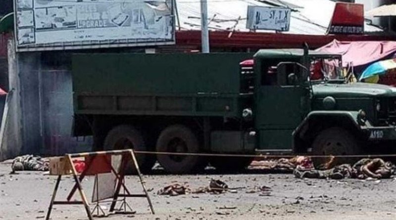 Aftermath of suicide bombing attack that took place in Jolo, Philippines on August 24, 2020. Photo Credit: Tasnim News Agency
