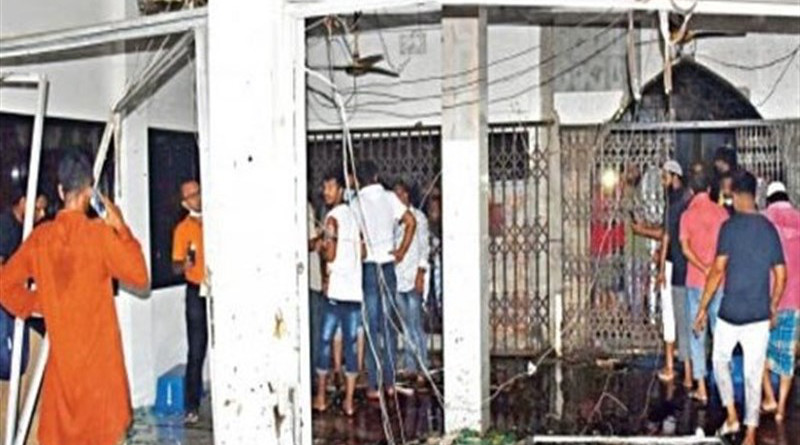 Scene of mosque in Bangladesh after gas explosion. Photo Credit: Tasnim News Agency