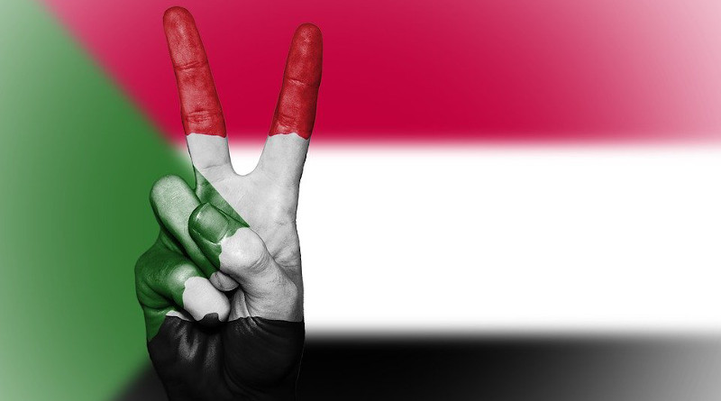 Sudan Peace Hand Nation Background Banner Colors