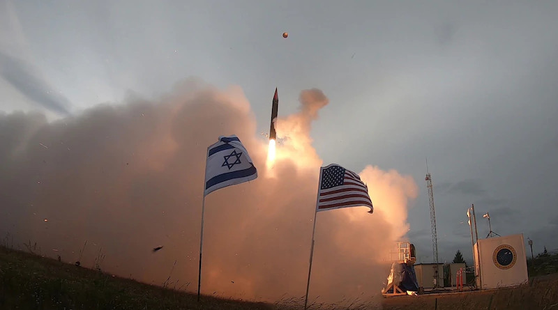 Israel Missile Defense Organization of Directorate of Defense Research and Development and U.S. Missile Defense Agency completed successful flight test campaign with Arrow 3 interceptor missile, in Kodiak, Alaska, July 28, 2019 (Missile Defense Agency)