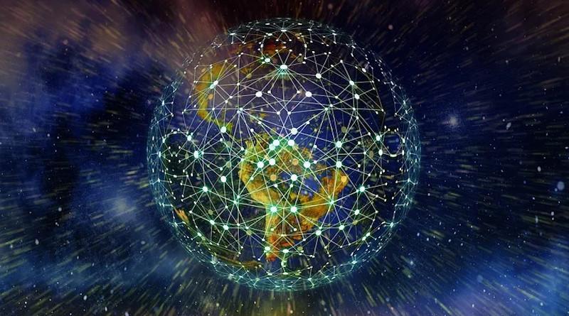 Latin America Internet Digital Network Earth Block Chain Globe Digitization
