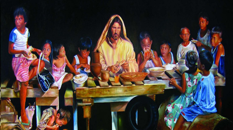 A modern-day depiction of the Last Supper by the late Filipino artist Joey Velasco. (Photo supplied)