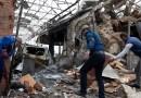 Aftermath of Armenian shelling on Ganja, Azerbaijan. Photo Credit: Tasnim News Agency