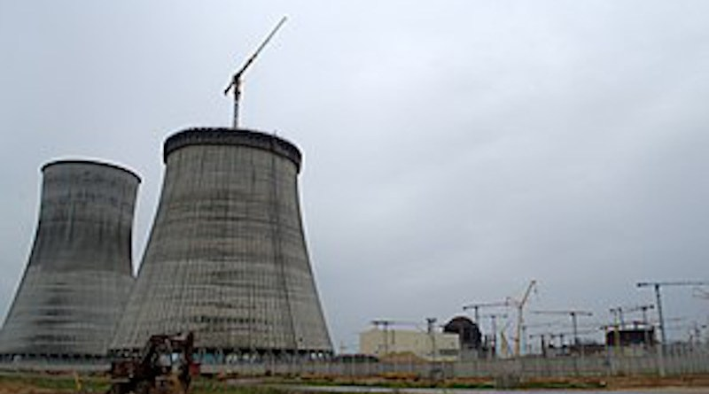 Belarus' Astravets nuclear power plant under construction in 2016. Photo Credit: Renessaince, Wikipedia Commons