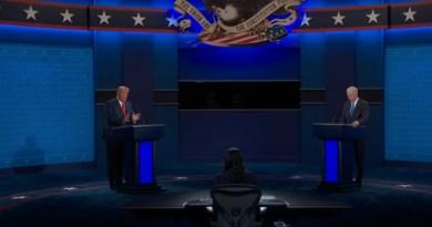 The second Presidential Debate between US President Donald Trump and former Vice President Joe Biden. Photo Credit: Screenshot