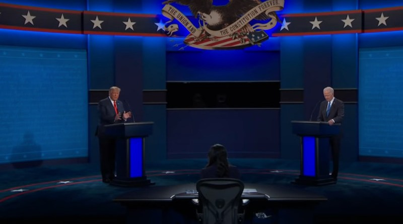 The second Presidential Debate between US President Donald Trump and former Vice President Joe Biden. Photo Credit: Screenshot