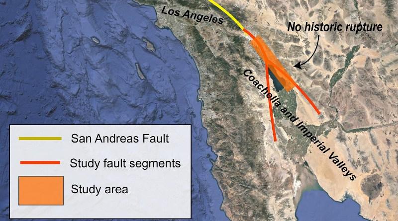 San Andreas fault area CREDIT: Rebecca Dzombak