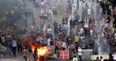 File photo of protests in Iran. Photo Credit: Iran News Wire