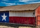 Texas Barn Metal Ranch Farm Lone Star Painted