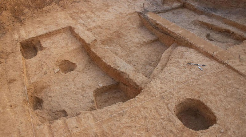 Excavation location, Neveh Noy, Beer Sheva. CREDIT: Talia Abulafia, Israel Antiquities Authority
