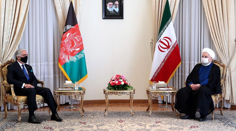Iran's President Hassan Rouhani and Afghanistan's Abdullah Abdullah. Photo Credit: Tasnim News Agency