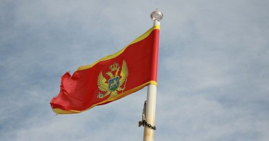 Montenegro Flag Sky National Country Flags Clouds