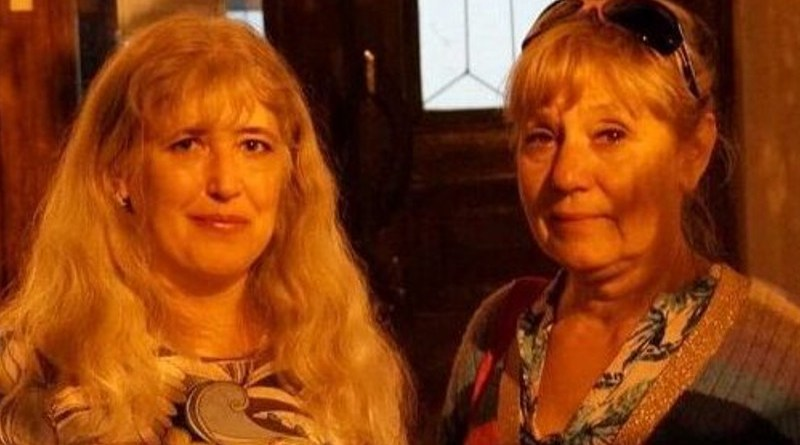 Svetlana Sakada (left) and Natalya Maladyka, Sevastopol, October 2020. Photo Credit: Crimean Solidarity