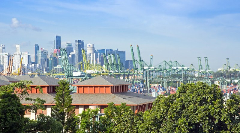 Port Singapore Maritime Asia Import Freight Dock