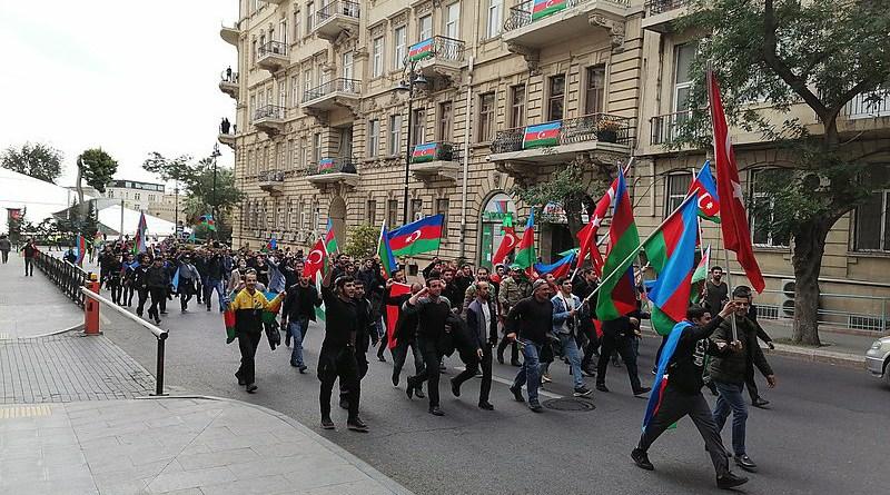 Celebrations in Baku, Azerbaijan after the peace treaty. Photo Credit: Toghrul Rahimli, Wikipedia Commons